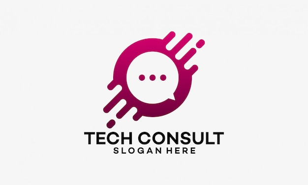 Technologie consulting logo sjabloonontwerpen