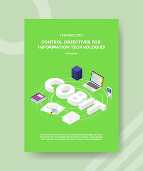 Technologie controledoelstellingen voor informatietechnologieën flyer-sjabloon