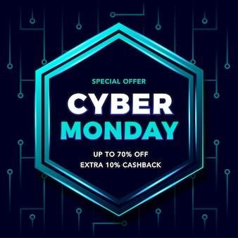 Technologie cyber maandag sjabloon banner