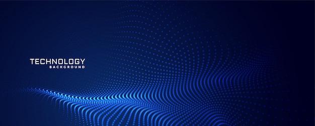 Technologie deeltjes stippen achtergrondontwerp