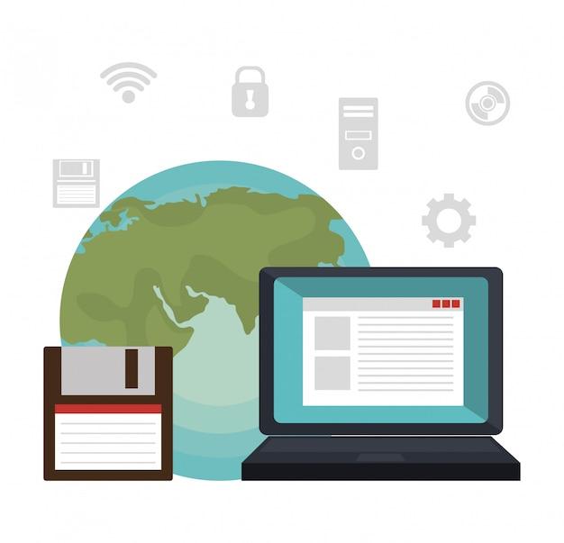 Technologie diensten illustratie