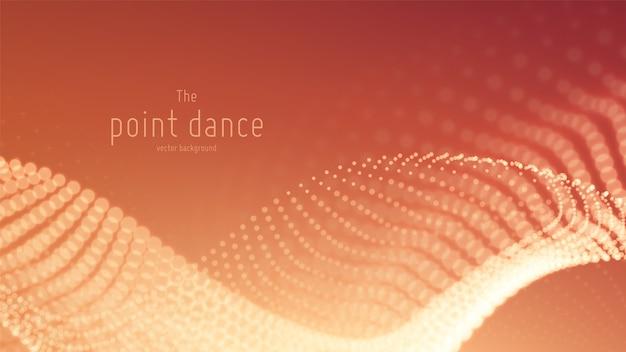 Technologie digitale splash of explosie van gegevenspunten achtergrond. point dance golfvorm. cyber ui, hud-element.
