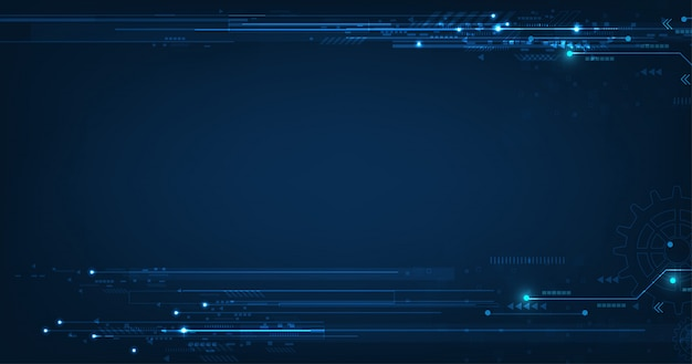 Technologie donkerblauwe achtergrond