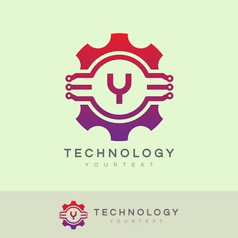 Technologie eerste letter a logo-ontwerp