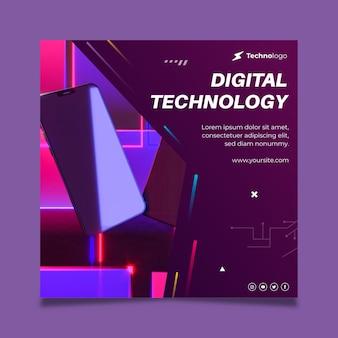 Technologie en toekomstig flyer-vierkant