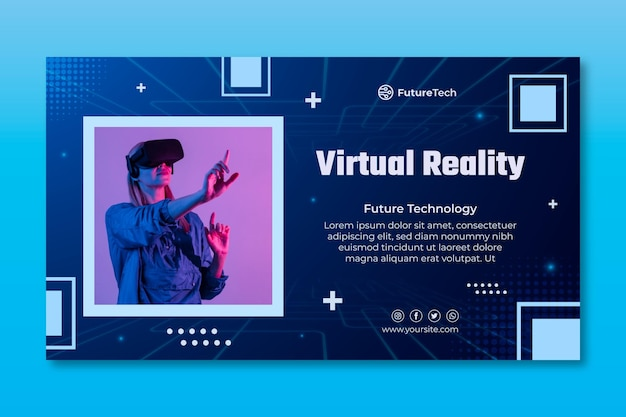 Technologie en toekomstige banner