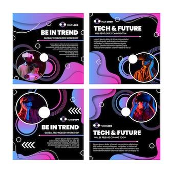 Technologie en toekomstige instagram-berichten