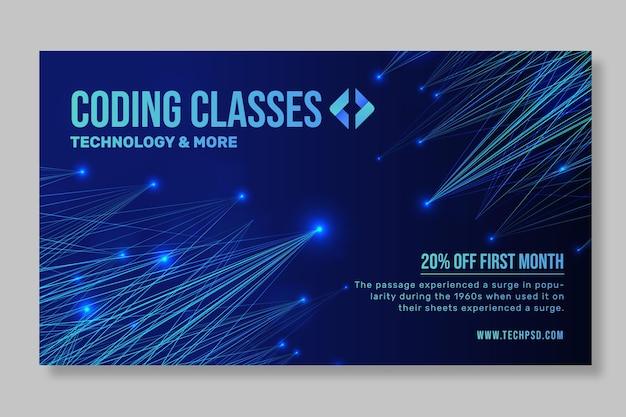 Technologie en toekomstige sjabloon voor spandoek