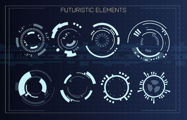 Technologie futuristische moderne gebruikersinterface.