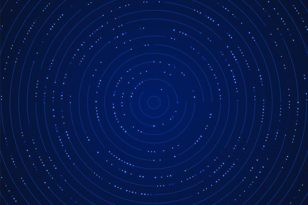 Technologie gradiënt blauwe technologie circulaire lijn ontwerppatroon met glittereffect.