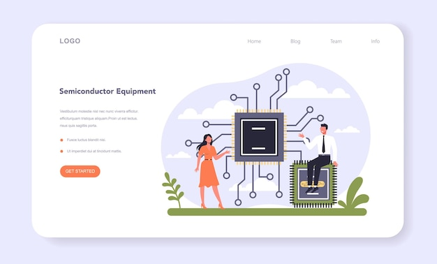 Technologie hardware en apparatuur industrie webbanner of bestemmingspagina