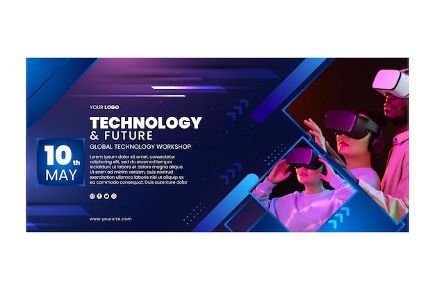 Technologie horizontale banner sjabloon