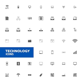 Technologie icon set