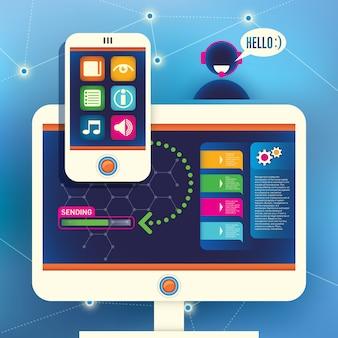 Technologie illustratie