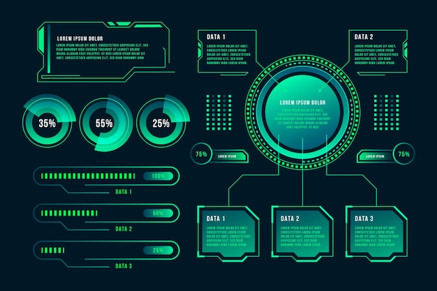 Technologie infographic concept