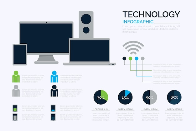 Technologie infographic sjabloon
