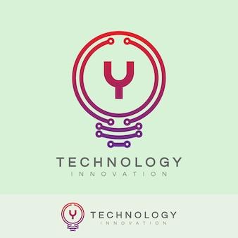 Technologie innovatie eerste letter a logo ontwerp