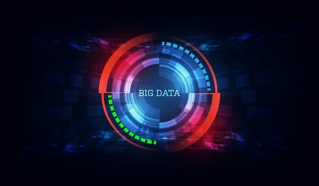Technologie innovatieve big data-achtergrond