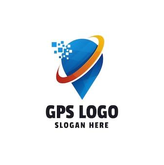 Technologie kleurovergang logo sjabloon