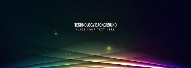 Technologie kleurrijke banner vector