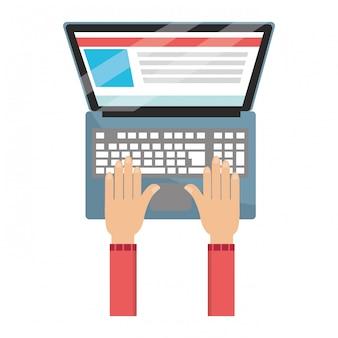 Technologie laptop cartoon