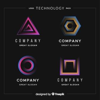 Technologie logo collectie