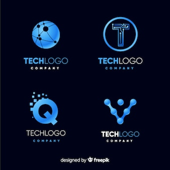 Technologie logo collectie
