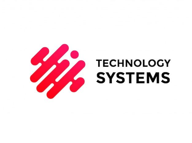 Technologie logo eenvoudig technisch ontwerp