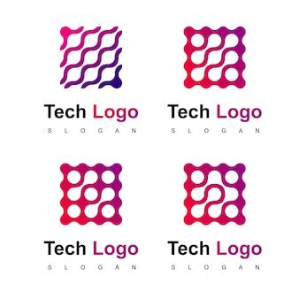 Technologie logo ontwerp vector