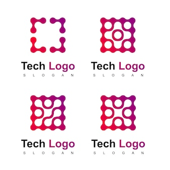 Technologie logo set