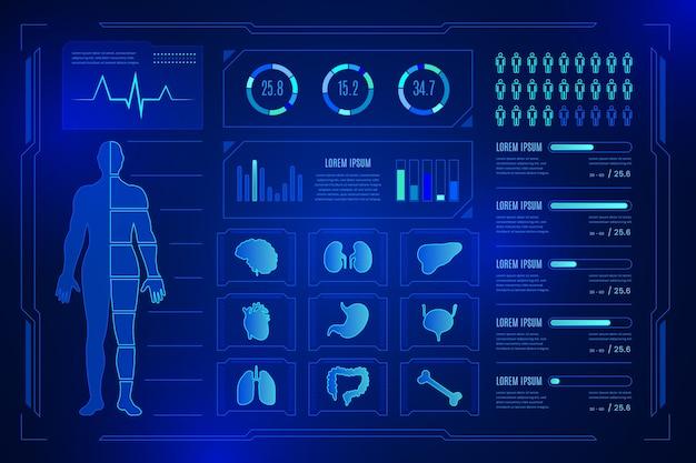 Technologie medische infographic