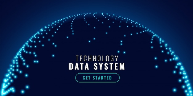 Technologie netwerk verbinding concept banner