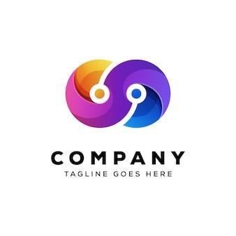 Technologie oneindigheid logo vector sjabloon