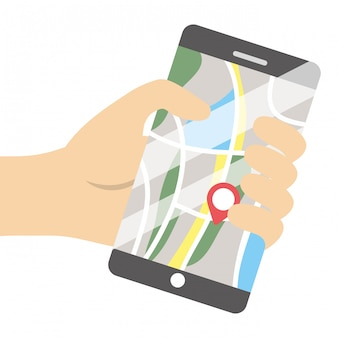 Technologie smartphone cartoon