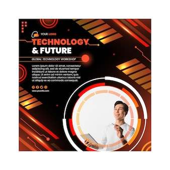 Technologie & toekomstige flyer-sjabloon
