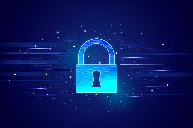 Technologie veilige abstracte achtergrond