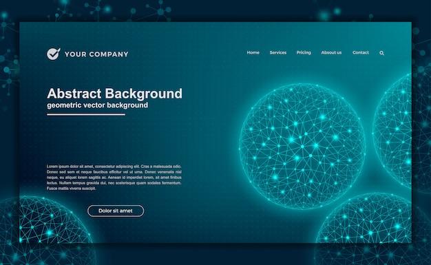 Technologie, wetenschap, futuristische achtergrond voor websiteontwerpen of bestemmingspagina.