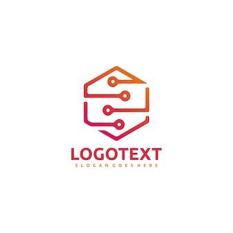 Technologie zeshoekig logo