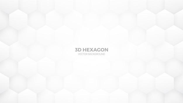 Technologie zeshoekig patroon minimalistische witte abstracte achtergrond