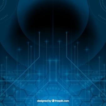 Technologieachtergrond in abstracte stijl