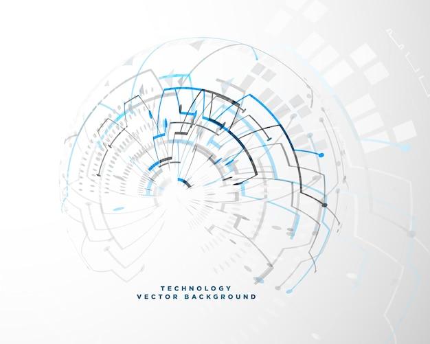 Technologieachtergrond met abstract draadnetwerk