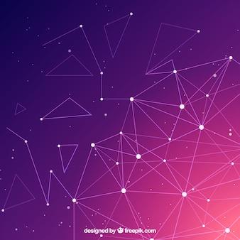 Technologieachtergrond met gradiëntkleuren