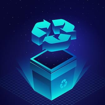 Technologisch ecologie recyclingconcept