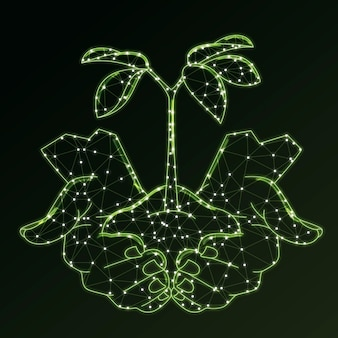 Technologisch ecologieconcept in groen