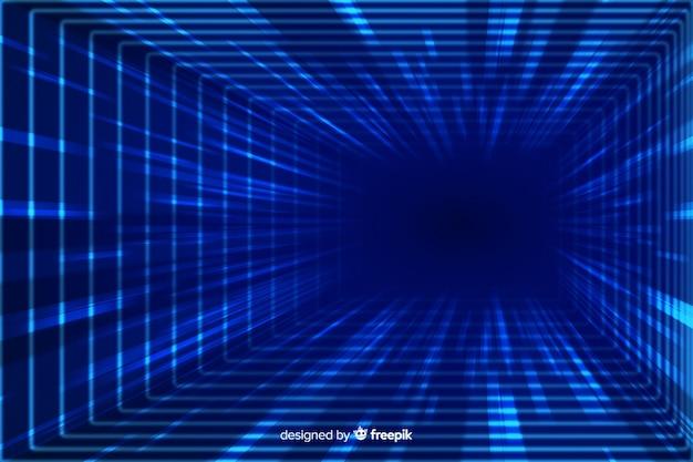 Technologisch lichttunnel vlak ontwerp als achtergrond