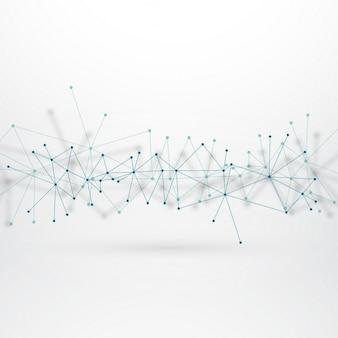 Technologische achtergrond met aangesloten lijnen