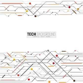 Technologische achtergrond ontwerp