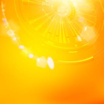 Technologische achtergrond van oranje tandrad.
