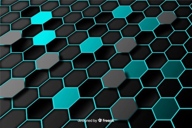 Technologische honingraatachtergrond
