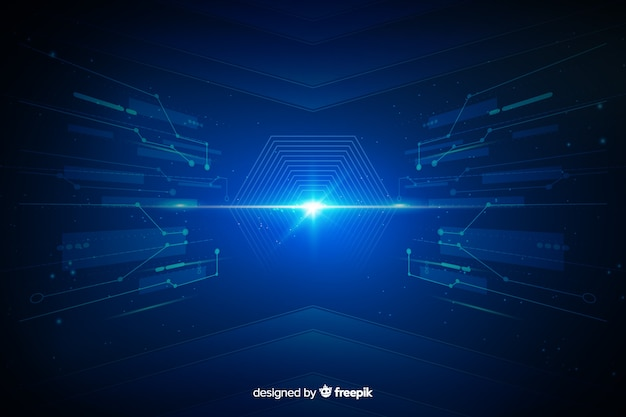 Technologische interface lichte tunnel achtergrond